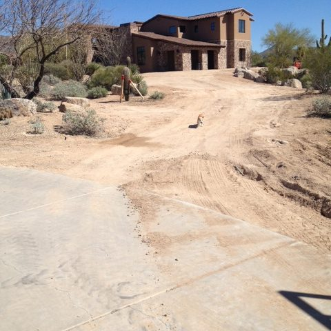 The home has great curb appeal deep from the road up a gently winding drive.