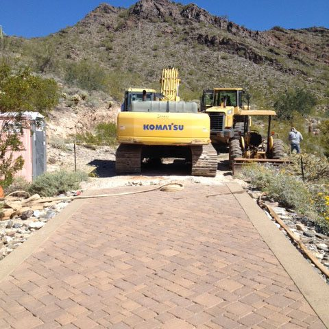 Large grading equipment is brought in to begin construction which is to be a three-year process.