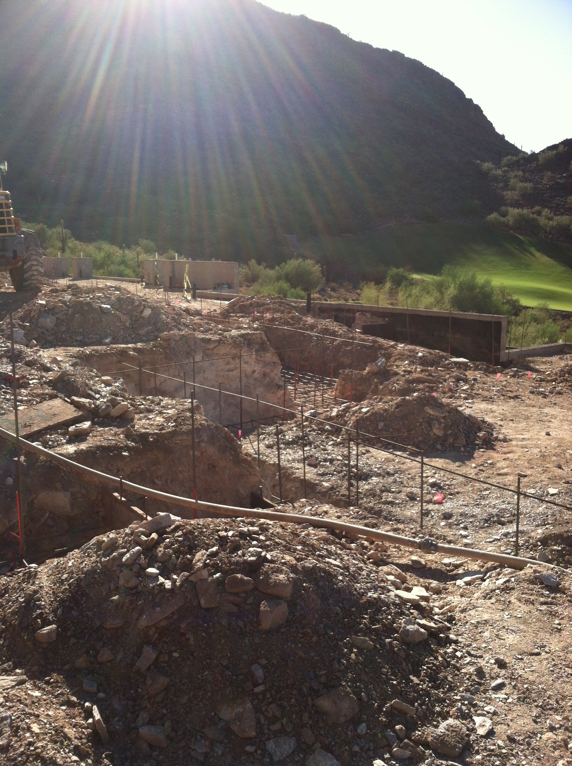 The DC Ranch golf course and towering mountain will become gorgeous views from the home.