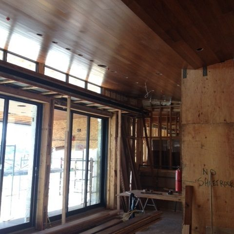 Interior Wood Ceiling In Progress