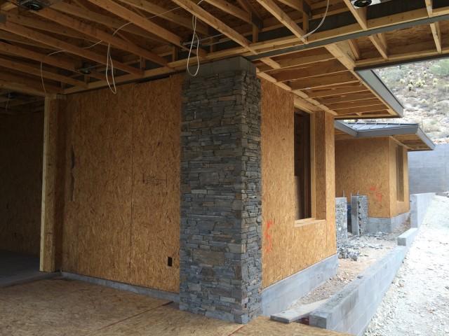 Side of House Framed