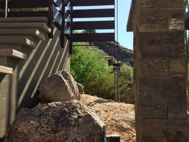 Entrance Natural Boulder