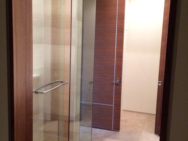 Bathroom #2 Shower, Pocket Door