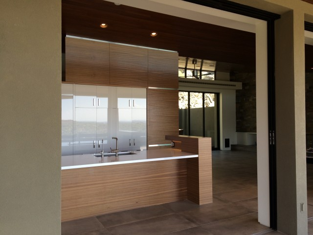 Terrace View to Kitchen, Great Room