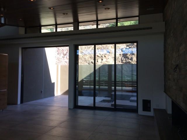 Rear Patio Door Open