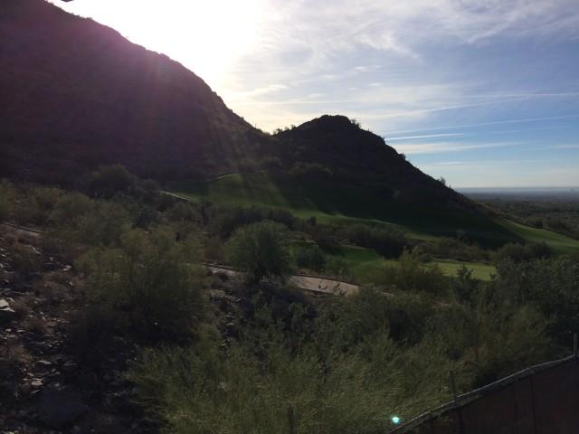 Rising Sun over Golf Course