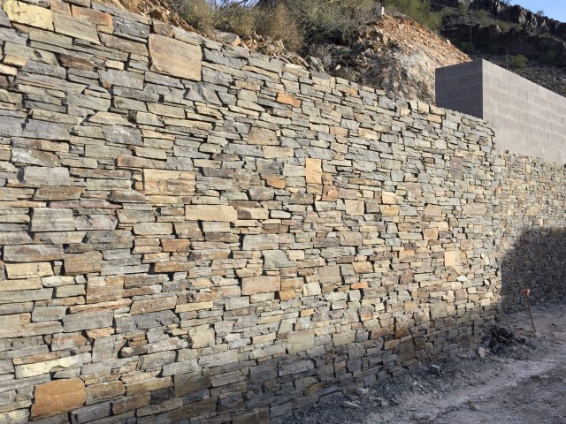 Stone Site Wall