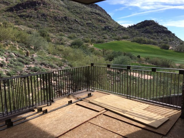 Glorious views of Scottdale's mountains and DC Ranch's golf course.