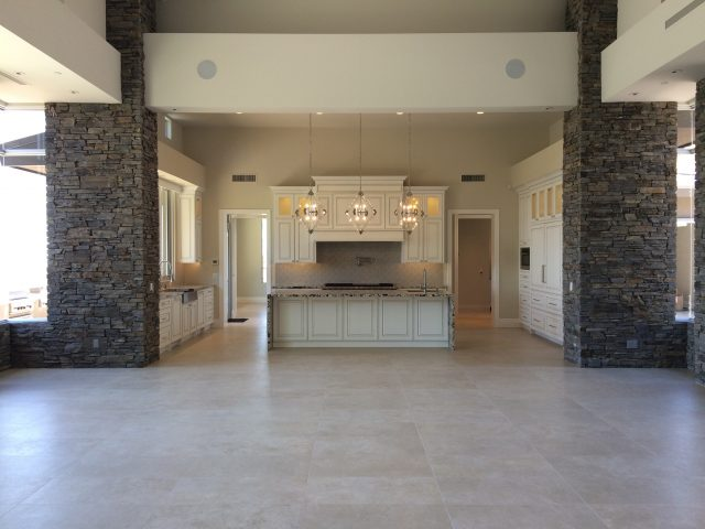 The Great Room open to the Kitchen makes for a spacious center of this home.